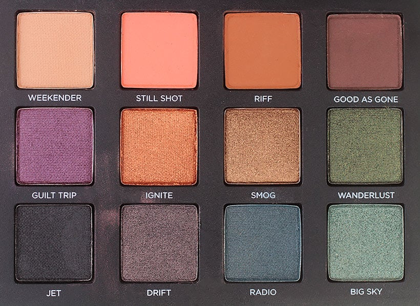 Urban Decay Born to Run Palette Big Sky swatches Tramps Like Us, Baby We Were Born to Run...