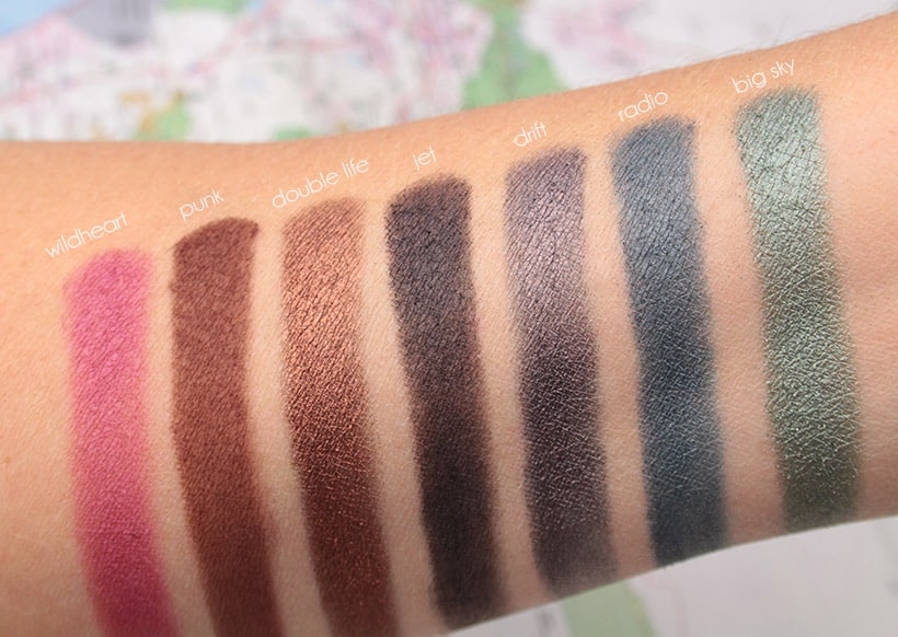 Urban Decay Born to Run Palette Double Life swatches Tramps Like Us, Baby We Were Born to Run...