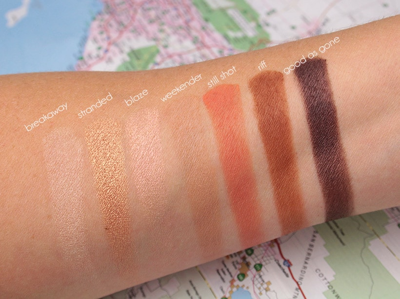 Urban Decay Born to Run Palette Good As Gone swatches Tramps Like Us, Baby We Were Born to Run...