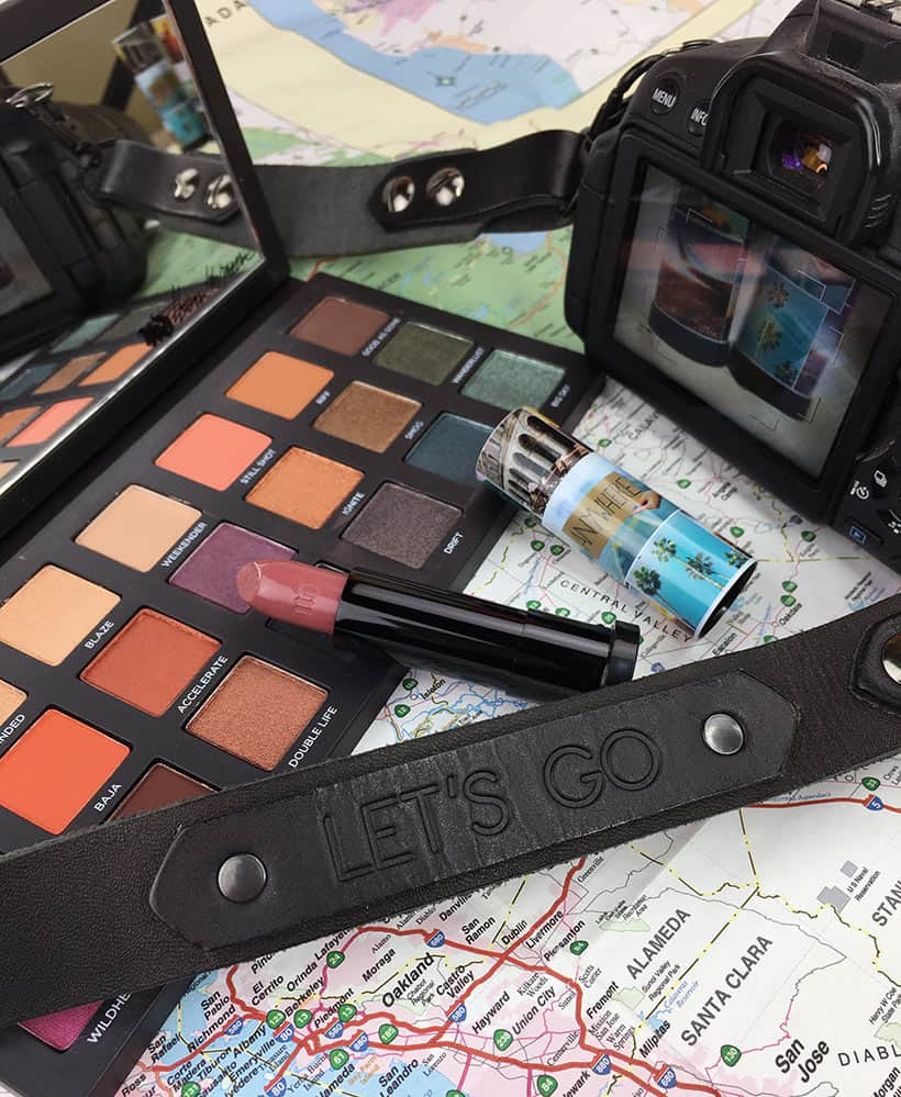 Urban Decay Born to Run Palette still life map Tramps Like Us, Baby We Were Born to Run...