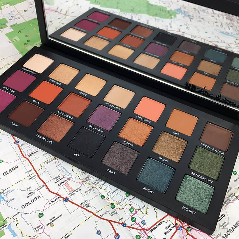 Urban Decay Born to Run palette photos, looks and swatches