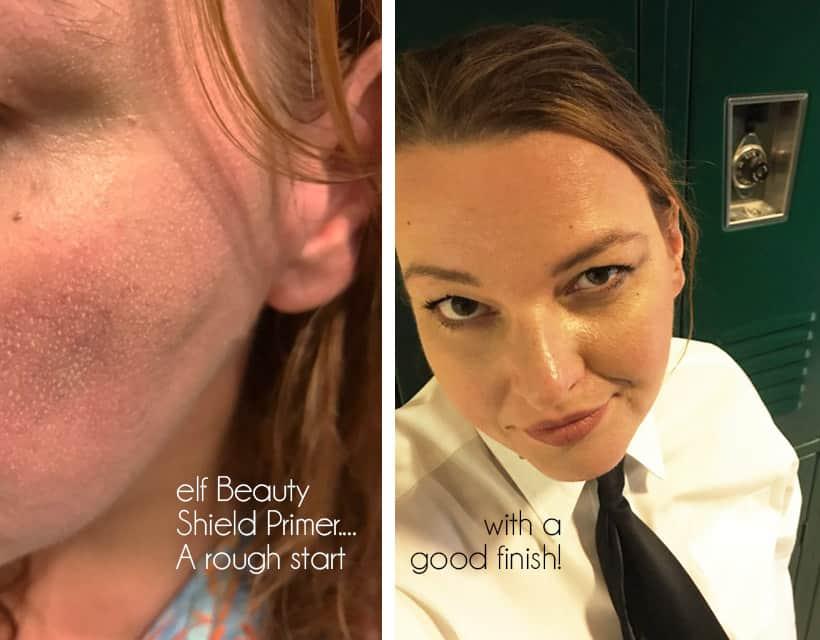 ELF Beauty Shield primer 9 hour wear results elf Primer Showdown: The Oily Skin Test