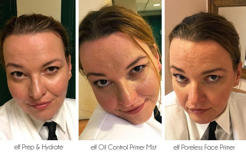 ELF primer 9 hour wear results elf Primer Showdown: The Oily Skin Test