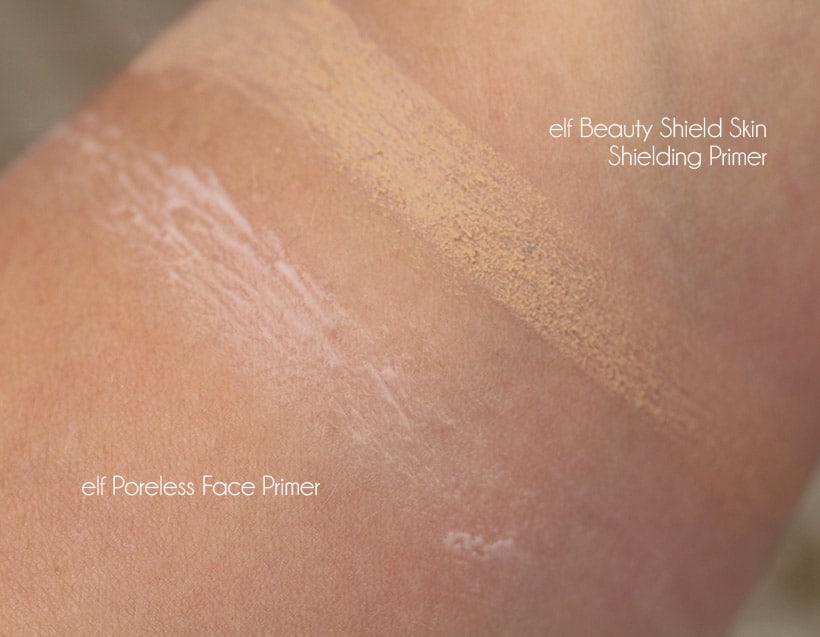 elf poreless face primer swatch elf Primer Showdown: The Oily Skin Test