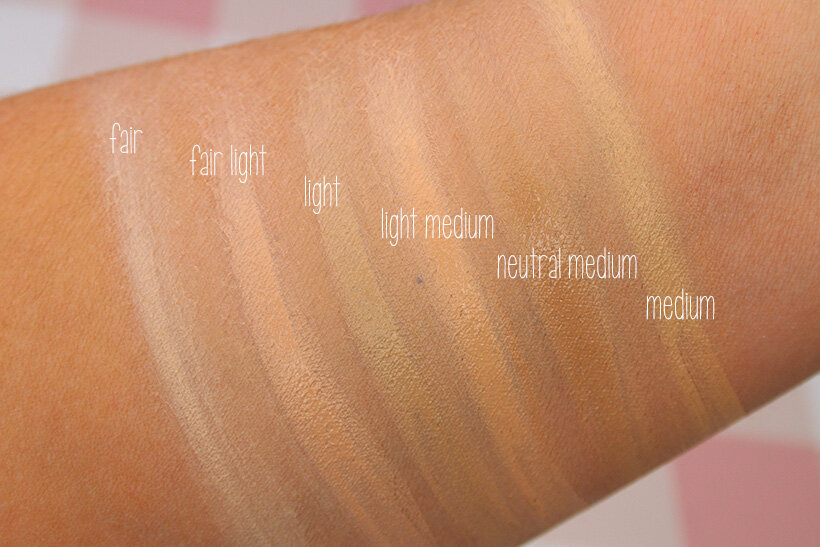 IT Cosmetics CC Cream Oil free Matte foundation fair light swatches IT Cosmetics Your Skin But Better CC Cream Oil free Matte: swatches of all 12 shades