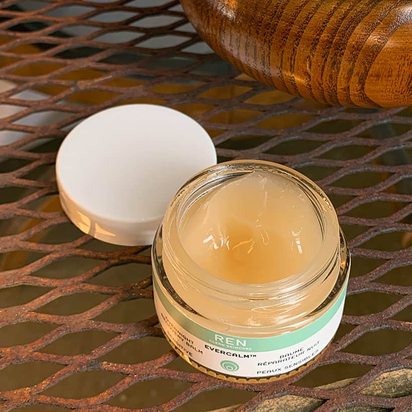 REN Overnight recovery balm consistency REN Evercalm Overnight Recovery Balm: Anger Management for Your Skin