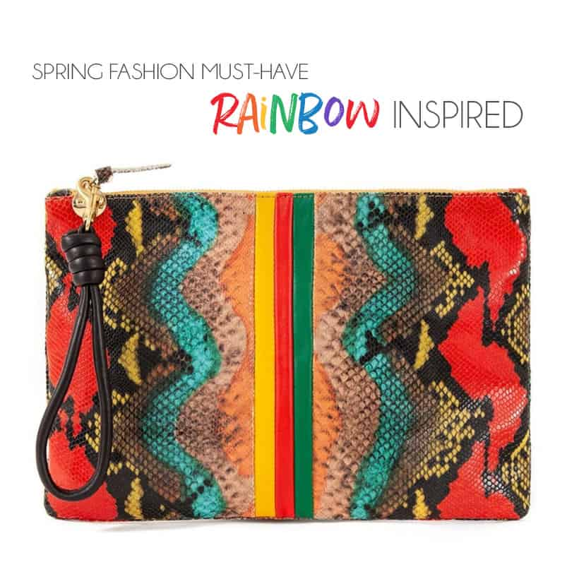 Spring Fashion Rainbow Snakeskin Print Purse Its Time for Spring Fashion: up to 25% off at Shopbop