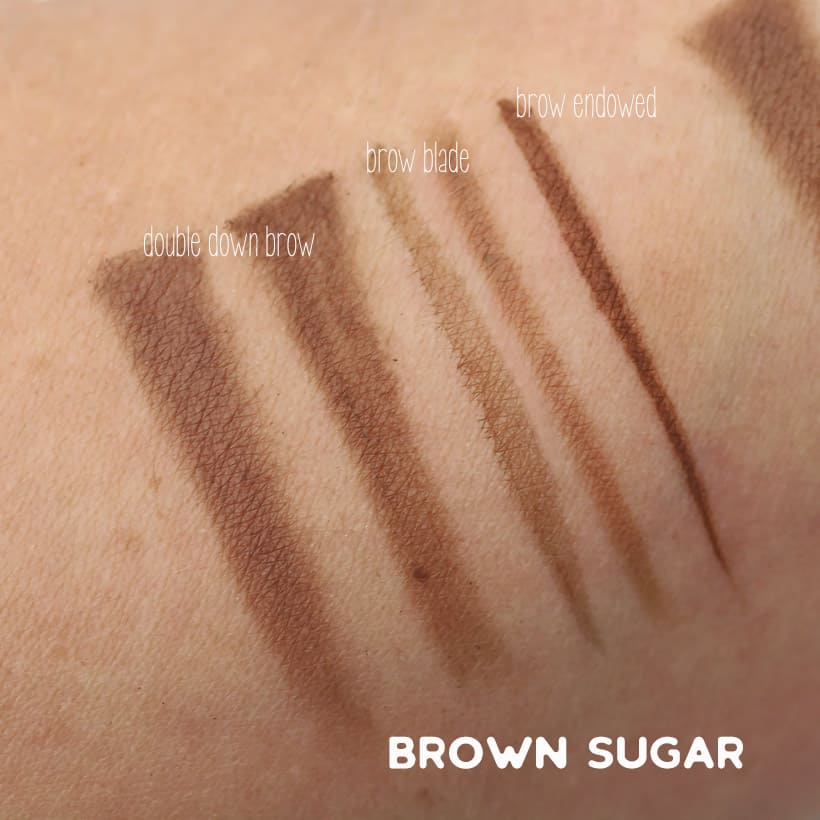 Urban Decay Brown Sugar swatches Urban Decay Street Style Brow Collection