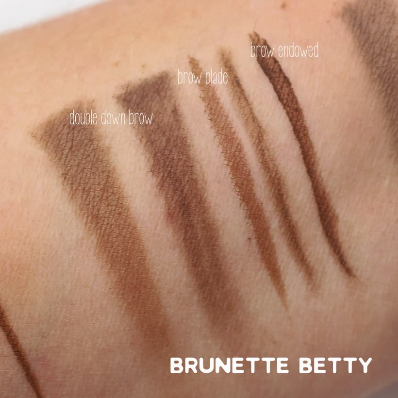 Urban Decay Brunette Betty swatches Urban Decay Street Style Brow Collection