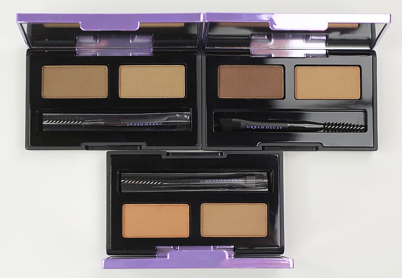Urban Decay Double Down Brow swatches 1 Urban Decay Street Style Brow Collection