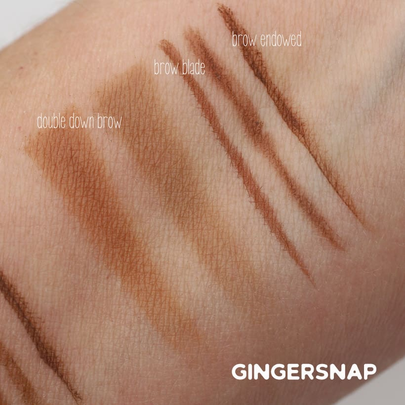 Urban Decay Gingersnap swatches Urban Decay Street Style Brow Collection