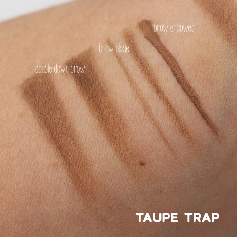 Urban Decay Taupe Trap swatches Urban Decay Street Style Brow Collection