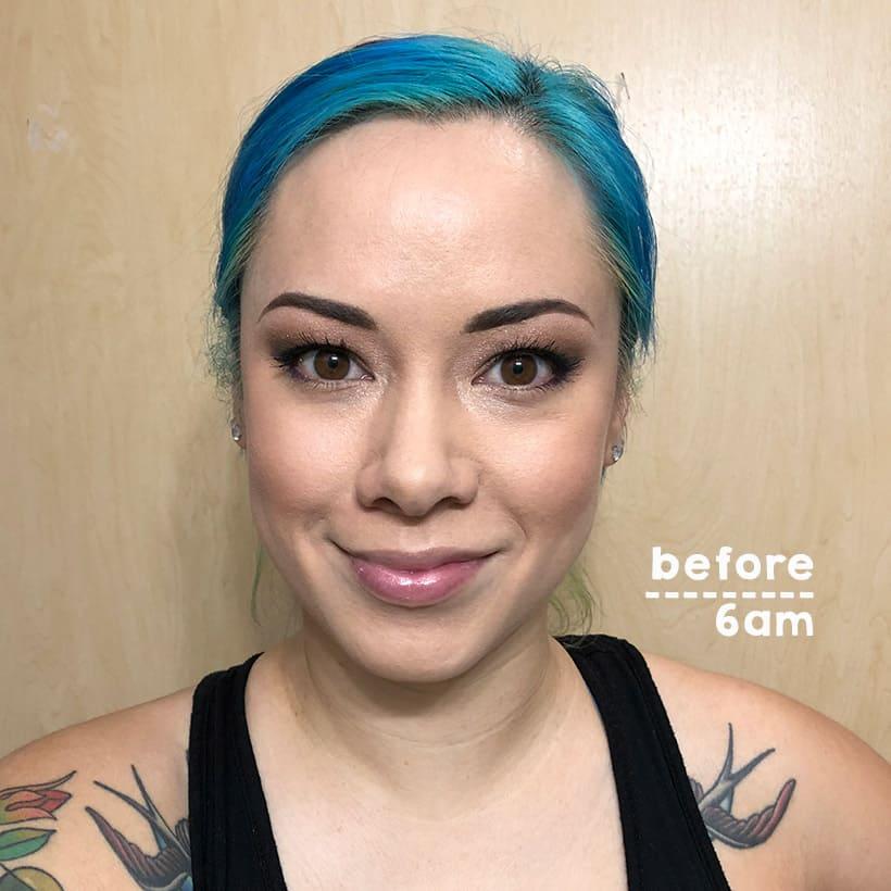 Urban Decay All Nighter Setting Spray wear test before Urban Decay All Nighter Long Lasting Makeup Setting Spray 12 Hour Wear Test