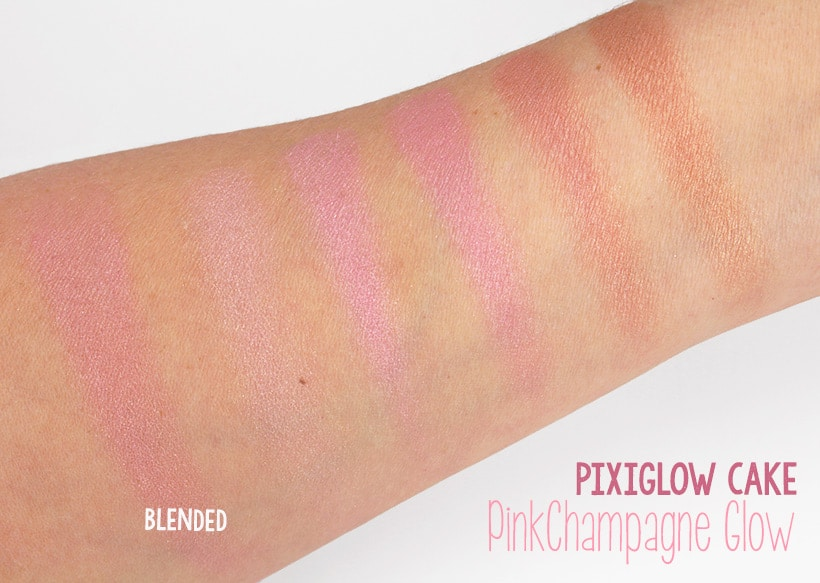 PixiGlow Cake PinkChampagne Glow swatches Who Wants Cake? (Answer: We ALL Want Cake!)