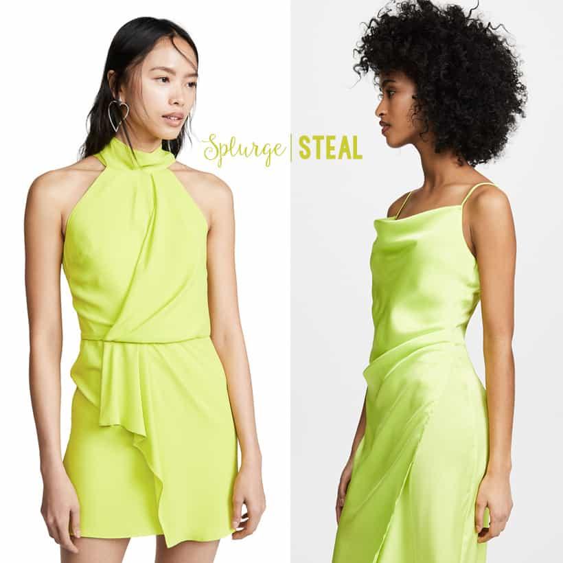 splurge vs steal neon fashion