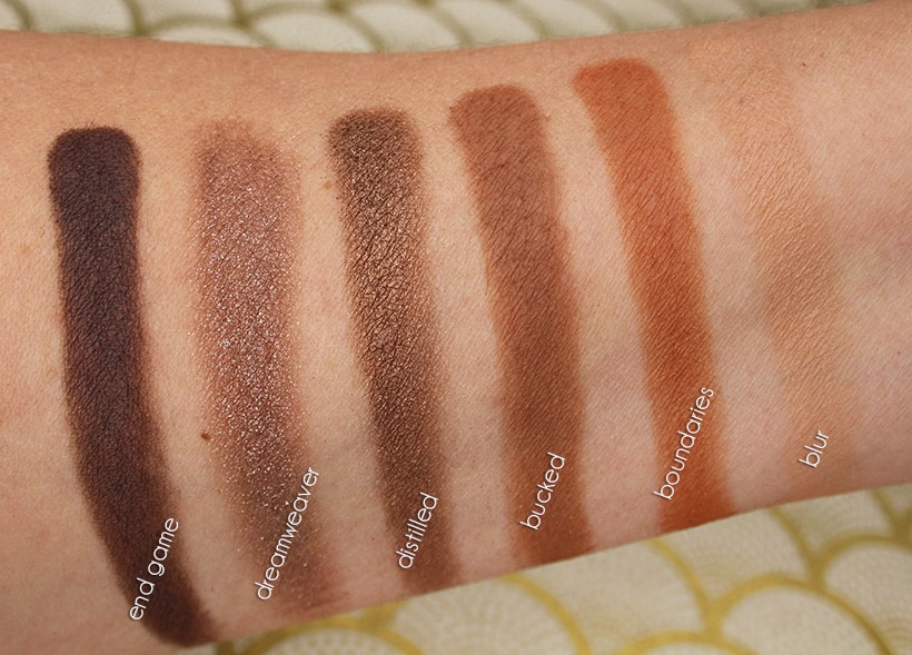 Urban Decay NAKED Reloaded Palette Dark Swatches