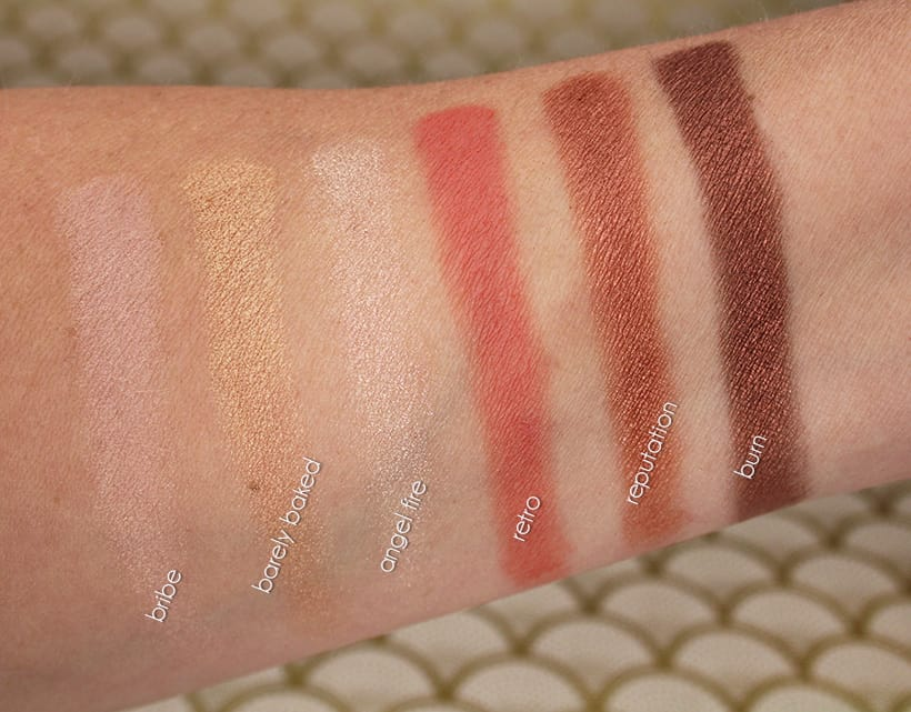 Urban Decay NAKED Reloaded Palette Light Swatches