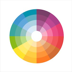 Image of the color wheel for an example in colors that cancel each other out with color correcting concealer