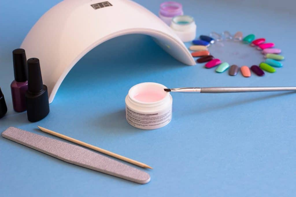 manicure table with led nail lamp